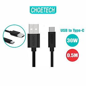 Dây Cáp Sạc Điện Thoại USB to USB Type C 30W Dài 0.5M Đến 2M CHOETECH AC0001/AC0002/AC0003 - Hàng Chính Hãng