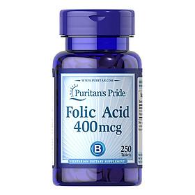 Thực Phẩm Chức Năng - Viên Uống Ngăn Ngừa Thiếu Máu Puritan'S Pride Folic Acid 400Mcg (250 Viên)
