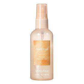 Xịt Thơm Toàn Thân Hương Peach Fruit Innisfree Perfumed Body & Hair Mist Peach Fruit 100ml - 131170866
