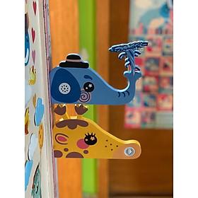 Thước đo chiều cao 3D nam châm phát nhạc Baby Shark cao cấp