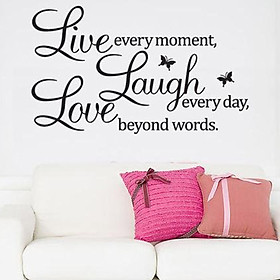 Decal dán tường chữ LOVE - LAUGH - LIVE Ý NGHĨA