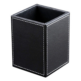 Luxury Business Leather Pen Holder Pen Pot Desktop Organizer Box Gift