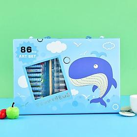 BEDDYBEAR / Bộ bút sáp - Bút chì màu - Bút màu nước / 86 món / dành cho bé từ 3 tuổi trở lên/ họa tiết xinh xắn