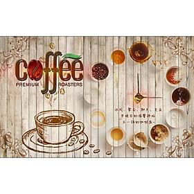 Tranh dán tường trang trí quán cà phê TC50(100x150)