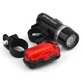Đèn Pin Gắn Xe Đạp 5 Led Và Đèn Hậu Sau Xe