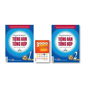 Combo Tiếng Hàn tổng hợp dành cho người Việt Nam kt (Phiên bản mới) - Sơ cấp 1 và Sơ cấp 2 (Bản màu Nghe qua app) kèm 3000 Từ vựng tiếng Hàn theo chủ đề