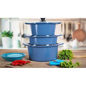 Bộ 3 nồi chống dính bếp từ Ecoramic CHÍNH HÃNG