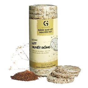 Bánh ăn kiêng, tập GYM gạo lứt GUfoods - có 3 lựa chọn yến mạch, huyết rồng, tím than (165g)