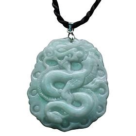 Mặt Dây Chuyền Cẩm Thạch Chạm Rồng Ngọc Quý Gemstones MD39 (5 x 4 cm)