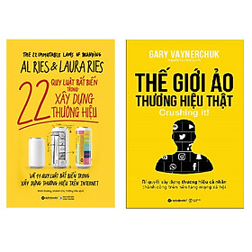 Combo 2 cuốn - Quy luật bất biến trong xây dưng thương hiệu + Thế giới ảo thương hiệu thật