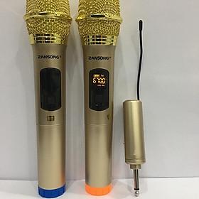 Bộ 2 micro không dây ZANSONG S28 sóng UHF Wireless dành cho Amly , loa kéo loa karaoke - Hỗ trợ các thiết bị có jack cắm 3.5mm và 6.5mm - Hàng Nhập khẩu