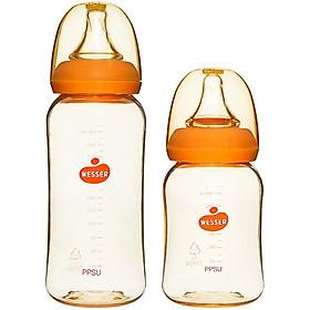 Combo 2 bình sữa Wesser PPSU (140ml + 250ml)