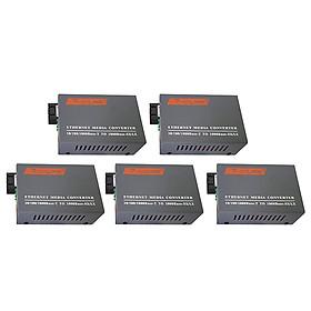 5 Bộ Chuyển Đổi Quang Điện Converter Netlink (1000Mb) Single Mode Dùng 2 Sợi Quang - Hàng Nhập Khẩu