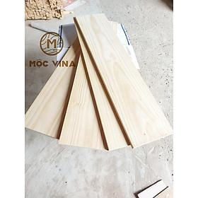 Combo 3 Tấm gỗ thông Chile dài 100cm x rộng 24cm x dày 2cm đã bào láng đẹp 4 mặt ttrang trí, làm kệ, DIY Mộc Vina