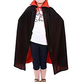Áo choàng ma cà rồng đỏ đen không mũ dài 90cm cho bé hóa trang Halloween