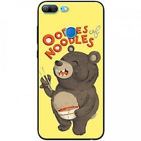 Ốp lưng dành cho Honor 9 Lite mẫu Gấu ăn mì