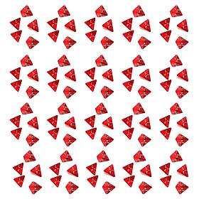 100 Viên Đá Quý Mặt Nhiều Hình Xúc Xắc Đa Diện Xúc Xắc D4 Cho D & D Trpg Trò Chơi