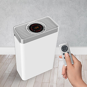 Máy lọc không khí cảm biến nhiệt độ và bụi PM2.5 thiết kế Bảng điều khiển cảm ứng + Điều khiển từ xa 142
