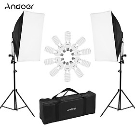 Andoer Professional Studio Photography Light Kit Including 50 * 70cm Softboxes * 2/ 4-in-1 Light Socket * 2/ 45W 5500K