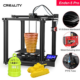 Creality 3D High Precision Ender-5 Pro 3D Printer DIY Kit with Upgrade Silent Motherboard PTFE Tubing Metal Extruder