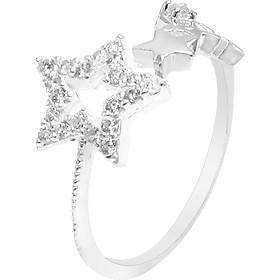 Nhẫn bạc nữ PANMILA mặt Ngôi Sao lấp lánh (NN.A6.B)