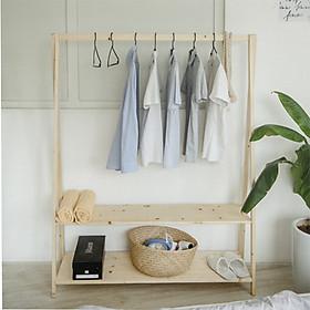 Kệ Gỗ Treo Đồ Chữ A - Kệ gỗ thông Decor/Tủ quần áo phòng ngủ