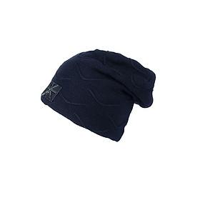 Nón len, mũ len trùm đầu nam gợn sóng A082