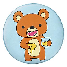 Gối Ôm Tròn In Hình Gấu Ăn Mật Ong - GOCT471