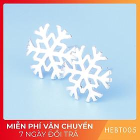 Bông hoa tai nữ bạc s925 cao cấp HEBT005 BH trọn đời