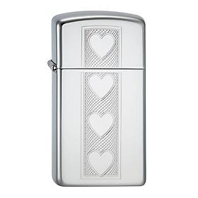 Bật Lửa Zippo 28476 Slim Heart Polished Chrome
