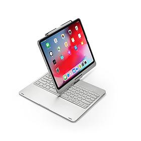 Bàn phím Bluetooth F17 dành cho IPAD PRO 12.9 inch (2018) có thể xoay 360 độ có đèn nền 7 màu