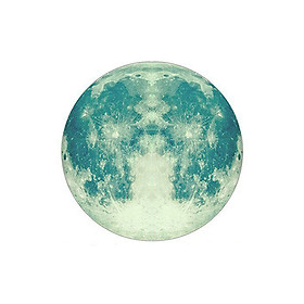 Decal 3D Dạ Quang Dán Tường Hình Mặt Trăng - 4 Màu (40CM)