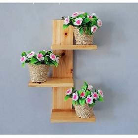 giá treo đồ lưu niệm hoa cây cảnh trong nhà đẹp kệ  trang trí không cần khoan