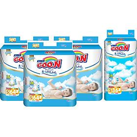 Combo 3 Gói Tã Dán Goo.n Premium Cực Đại S64 (64 Miếng) - Tặng 1 Tã Dán Đại S36 (36 Miếng)