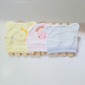 Nón Cotton Cao Cấp Cho Bé - Sét 03 Cái - Giao Màu sắc Ngẫu Nhiên
