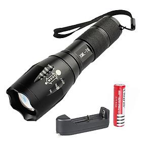 Đèn Pin UltraFire XML T6 Siêu Sáng, Hợp Kim Chống Nước, 1000 Lumen, Chiếu Xa 200m tới 500m , Pin Sạc FullBox, Tặng Pin Green HHTC 18650  Loại Tốt