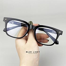 Kính Giả Cận Chống Ánh Sáng Xanh, Gọng Kính Cận Nam Nữ Họa Tiết Chrome Heart Cao Cấp Không Độ Hàn Quốc - BLUE LIGHT SHOP