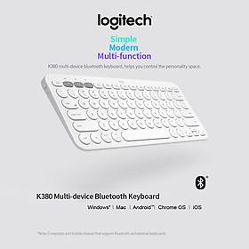 Logitech K380 Wireless Bluetooth 3.0 Keyboard EASY-SWITCH Keyboard Multi-device Connection Multiple Operating Systems