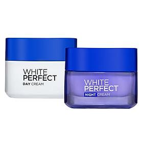 Bộ Kem Dưỡng Trắng Mượt Đều Màu Đêm 50ml + Kem Dưỡng Trắng Mượt Đều Màu Ngày 50ml L'Oreal Paris White Perfect