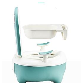 Bô Vệ Sinh Cho Bé - Bệ Ngồi Toilet Trẻ Em Có Chỗ Dựa Và Khay Hứng Vệ Sinh Tháo Lắp Dễ Dàng-hàng chính hãng