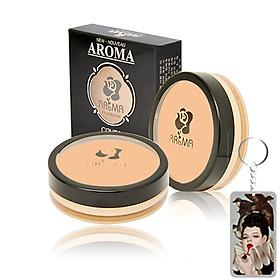 Kem che khuyết điểm Aroma Cover Foundation Hàn Quốc 14g No.21 Light Beige tặng kèm móc khoá