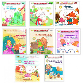 Combo 8 Cuốn Truyện Dành Cho Bé Yêu (3 - 6 Tuổi) - Không Cần La Mắng Bé Sẽ Vâng Lời : Một Ngày Của Thỏ Co Co + Ôm Cô Giáo Sơn Dương + Chẳng Biết Tại Làm Sao + Thiệp Mời Của Công Chúa NaNa + Quả Pháo Nhỏ Rồng Uy Uy + Rồng Uy Uy Muốn Kể Một Câu Chuyện Cười + Chiếc Váy Hoa Của Thỏ CoCo + Chuột Mimi Như Cái Đuôi Của Chuột Mẹ - (Tặng Kèm Postcard Greenlife)