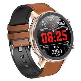 IP68 Sport Round Bluetooth 4.0 ECG PPG Smart Watch