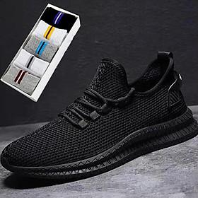 Giày nam, giày sneaker nam khử mùi hôi, đế cao su nguyên khối siêu nhẹ siêu bền - Tặng 1 đôi tất giao màu ngẫu nhiên như trong hình