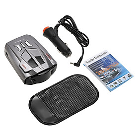 12V Car Vehicle Radar Detector LED Display Speed Control Detector  V9 Speed Voice Alert Warning Device  Russia / English