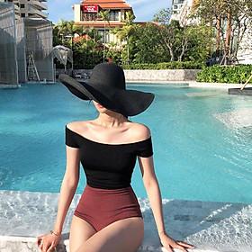 Bộ bikini 1 mảnh cao cấp khoe vai