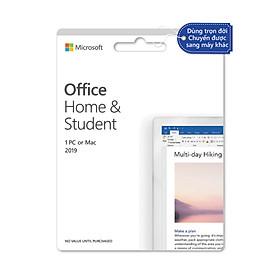 Phần mềm Office Home and Student 2019 English APAC EM Medialess P6 (79G-05143) - Hàng Chính Hãng