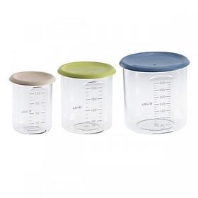 Bộ 3 hộp chia thức ăn nhựa Tritan Pháp Béaba