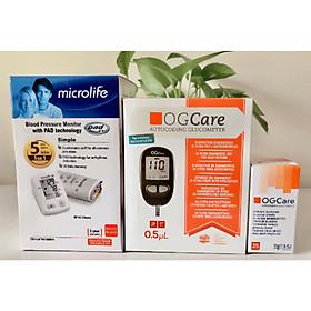 Trọn bộ máy đo huyết áp BP A2 Classic của Microlife tặng kèm máy đo đường huyết Ogcare