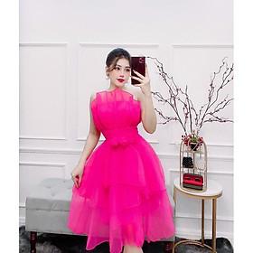 Đầm dự tiệc xếp tầng cúp ngực hoa eo TRIPBLE T DRESS - MS17Y- Size M/L